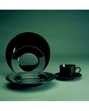 Black Rim  Can Cup Saucer (6 oz.)
