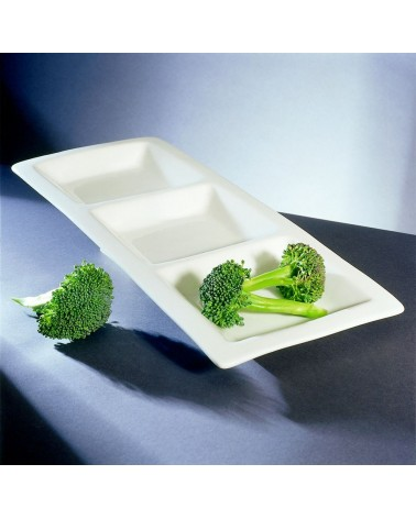 "Whittier 16"" Small 3-Pocket Tray"