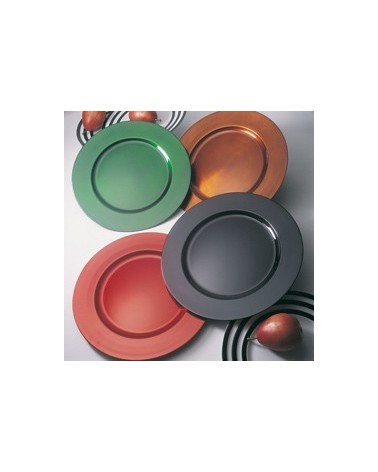 """Lacquer Round  Black 13"""" Charger"""