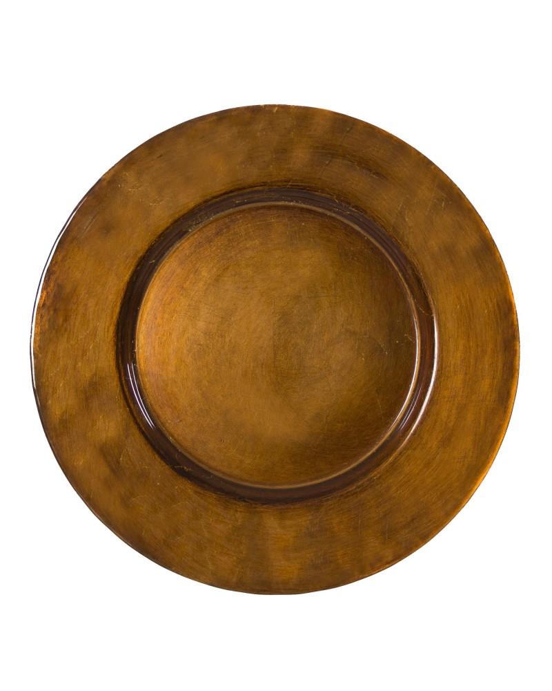 "Antique Copper  13"" Charger"