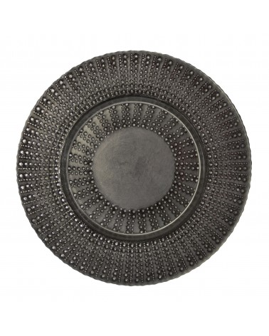 "Aztec Collection 13"" Black Silver Charger"