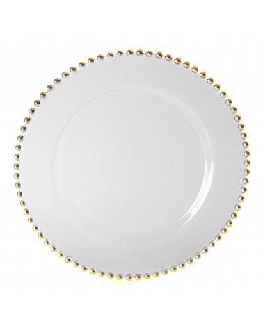 "Belmont Gold 13"" Charger Plate"