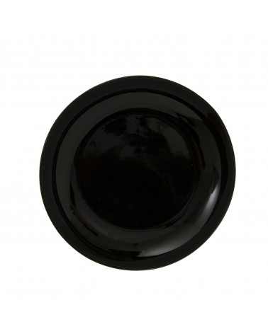 "Black Coupe 10.25"" Dinner Plate"