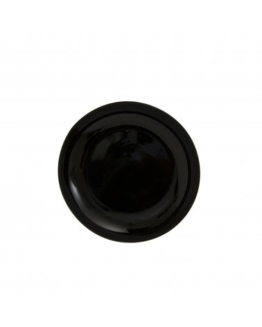 "Black Coupe 7.5"" Salad Dessert Plate"