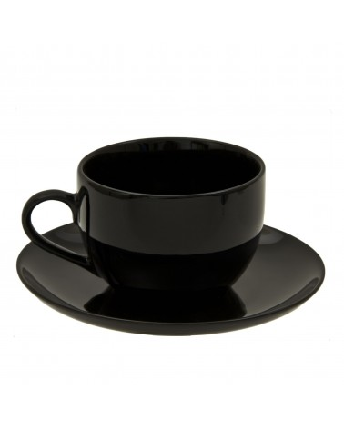 Black Coupe Cup Saucer (8 oz.)