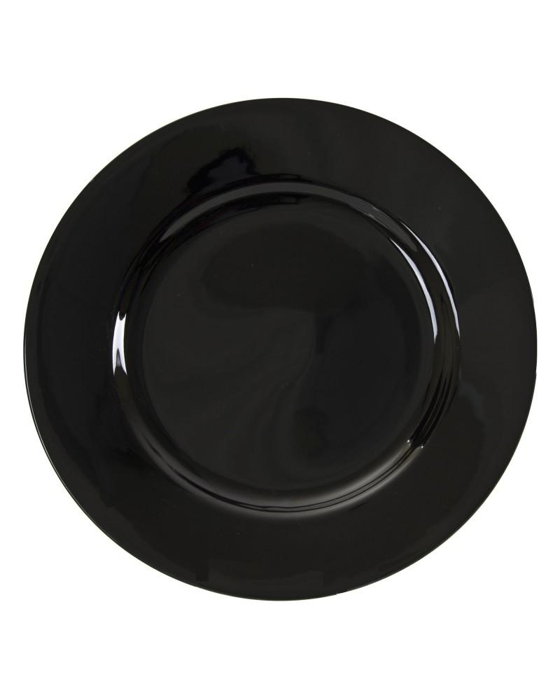 """Black Rim  10.25"""" Dinner Plate"""