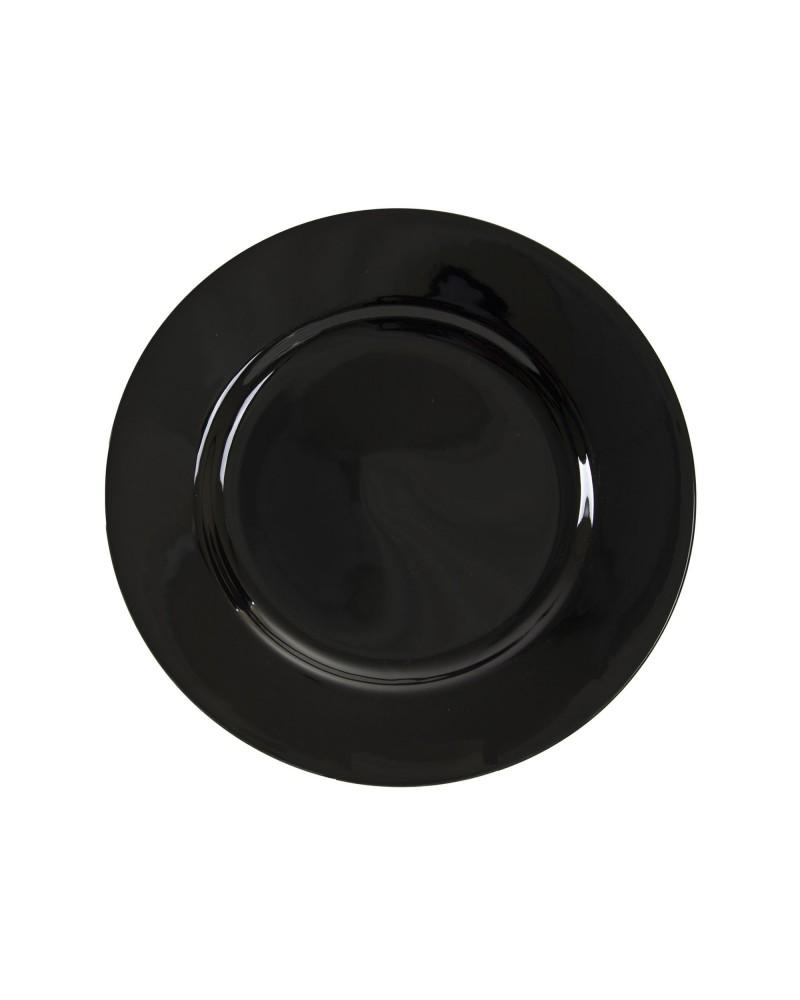 "Black Rim  7.5"" Salad Dessert Plate"