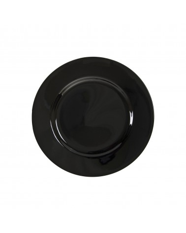 "Black Rim  6"" Bread & Butter Plate"
