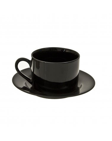 Black Rim  Can Cup Saucer (6 oz.)