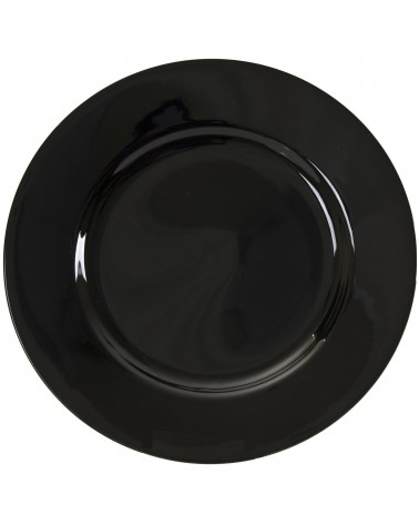 "Black Rim  12"" Charger Plate"