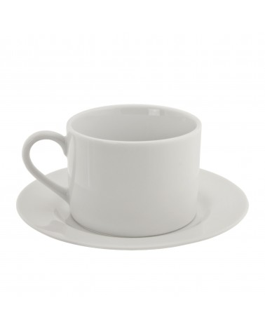 Classic White Can Cup Saucer (6 oz.)