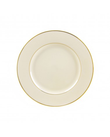 "Cream Double Gold  9"" Luncheon Plate"