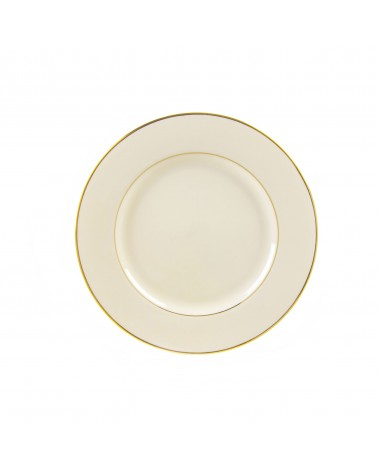 "Cream Double Gold  7.5"" Salad Dessert Plate"