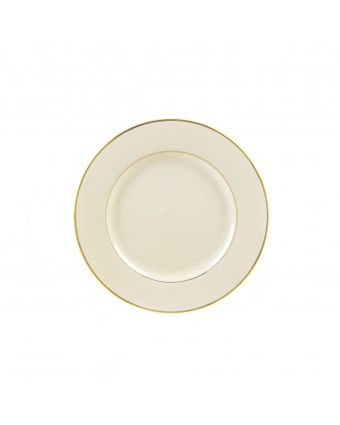 "Cream Double Gold  6"" Bread & Butter Plate"