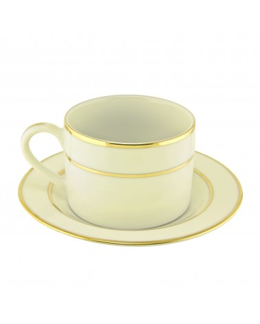 Cream Double Gold  Can Cup Saucer (6 oz.)