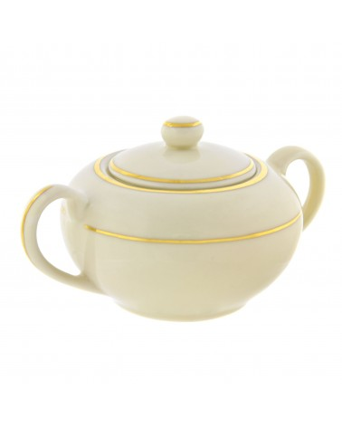 Cream Double Gold  Sugar Bowl (8 oz.)
