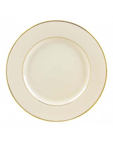 "Cream Double Gold  12"" Charger Plate"