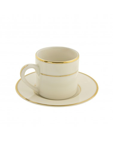 Cream Double Gold  Can Demi Cup Saucer (4 oz.)