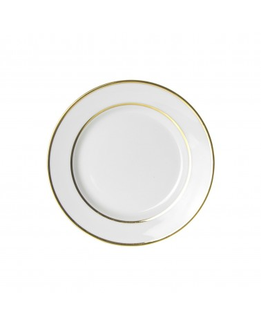 "Double Gold  7.5"" Salad Dessert Plate"