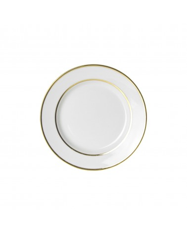 "Double Gold  6"" Bread & Butter Plate"