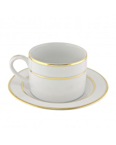 Double Gold  Can Cup Saucer (6 oz.)
