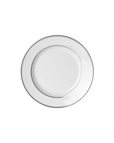 "Double Silver  7.5"" Salad Dessert Plate"