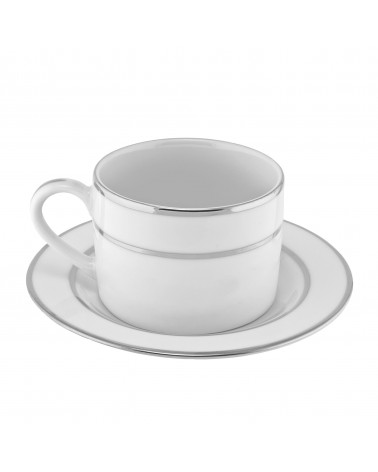 Double Silver Can Cup Saucer (6 oz.)