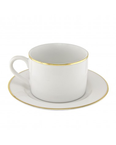 Gold Line  Can Cup Saucer (6 oz.)