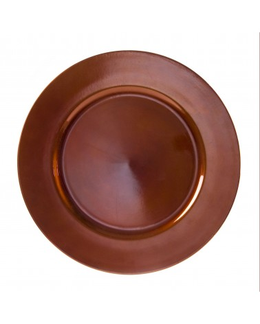 Lacquer Round  Copper Charger 13""