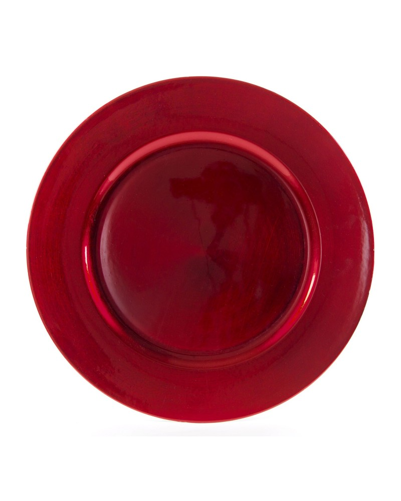 """Lacquer Round Red Charger 13"""""""