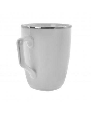 Lotus Silver Line   Square Mug (10 oz.)