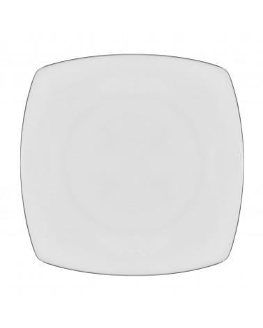 "Lotus Silver Line   11"" Dinner Plate"