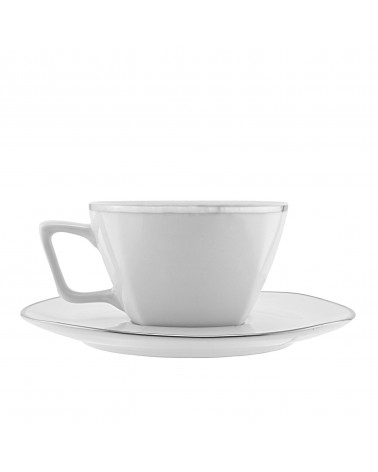 Lotus Silver Line   Cup Saucer (6 oz.)
