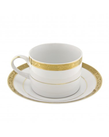 Paradise Gold Can Cup Saucer (6 oz.)