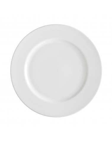 "Royal White   10.625"" Dinner Plate"