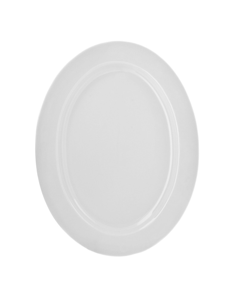 "Royal White   14"" Oval Platter"