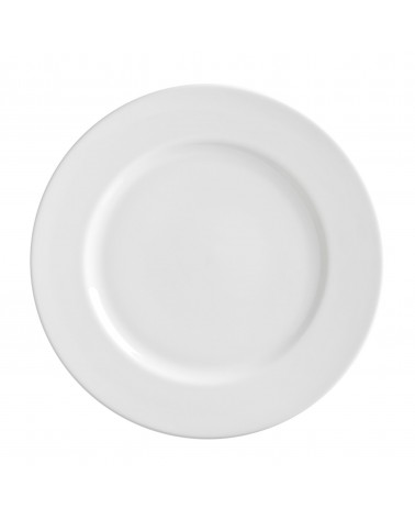 "Royal White   11"" Dinner Plate"