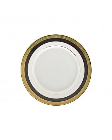 "Sahara Black 7.75"" Salad Dessert Plate"