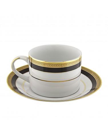 Sahara Black Can Cup Saucer (6 oz.)