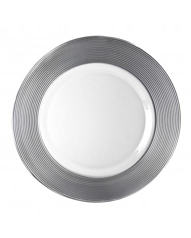 """Saturn Silver 13"""" Charger Plate"""