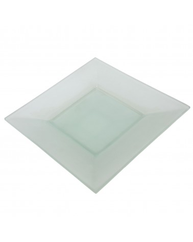 "Sheer Frosted 11"" Square Plate"