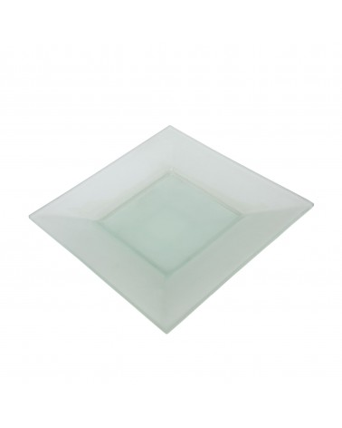"Sheer Frosted 8"" Square Plate"