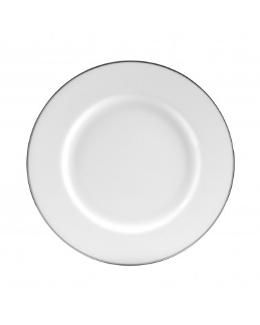 "Silver Band  10.25"" Dinner Plate"