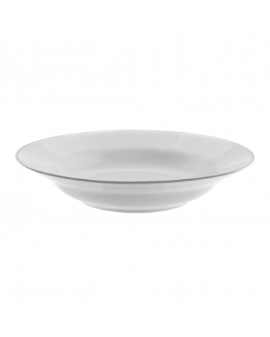 "Silver Band  9"" Rim Soup (12 oz.)"
