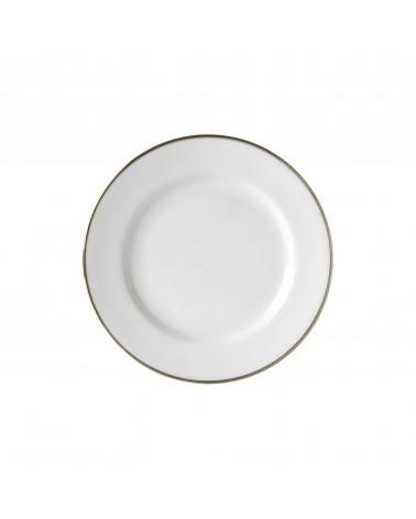 "Silver Band  7.5"" Salad Dessert Plate"