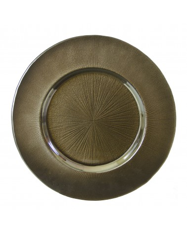 "Sunburst Charger   13"" Bronze Charger"
