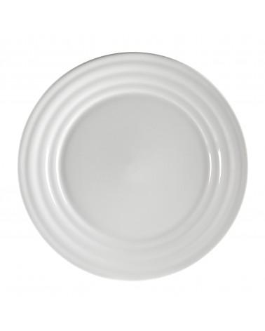 """Swing White  11"""" Dinner Plate"""
