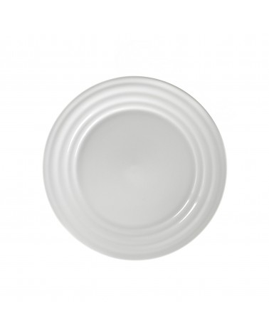 "Swing White  8"" Salad Dessert Plate"