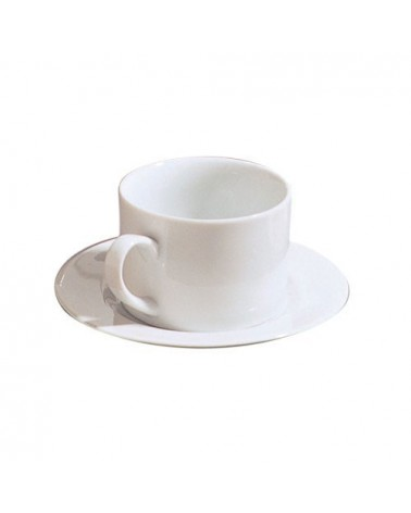 Classic White Can Demi Cup Saucer (4 oz.)