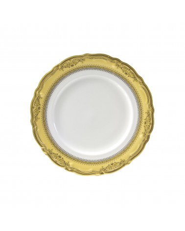 "Vanessa Gold  9"" Luncheon Plate"